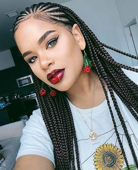 cornrows braided hairstyles 2019:100 Best Black Braided Hairstyles .