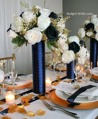 Image result for burgundy and navy wedding centerpieces | Gold .