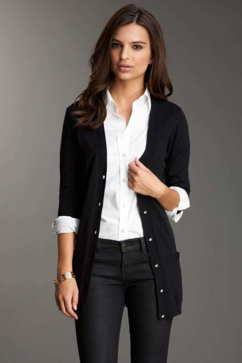 Cardigan Outfits For Work 56 | Fashion, Work fashion, Cardigans .