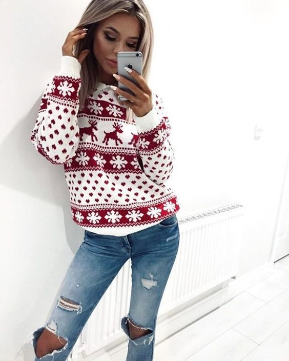 9 cute winter Christmas outfits for teens - myschooloutfits.c