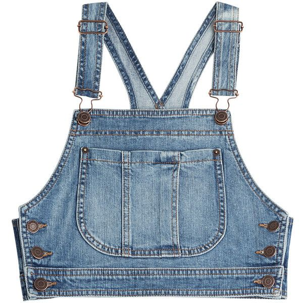 Moschino Denim Crop Top ($310) ❤ liked on Polyvore featuring tops .