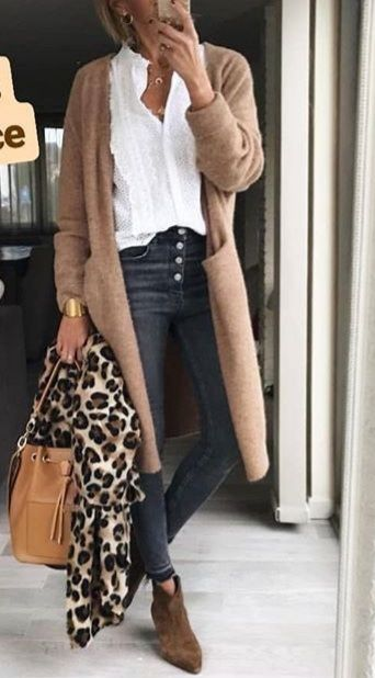 Best Long Cardigan Outfit Ideas for Women | Casual winter outfits .