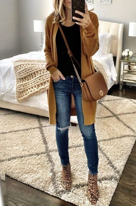Best Long Cardigan Outfit Ideas for Women in 2020 | Winter fashion .
