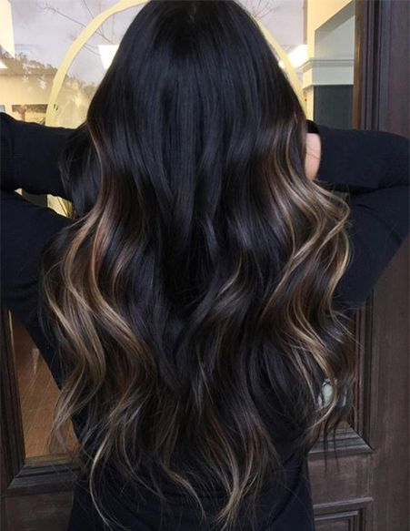Dark Hair Color with Brown Shades for Spring Hairstyles ideas .