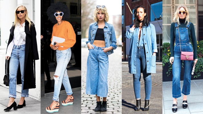 The Best Denim Street Style Outfits | StyleCast