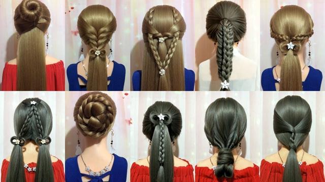 New hairstyles 2019 Easy hair weaves and simple models | Hair .