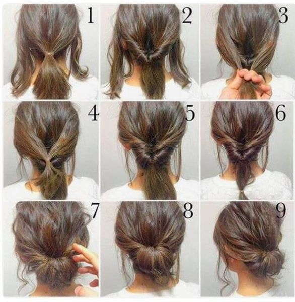 Best 10 Easy and Simple Hairstyle Forever | Hair styles, Work .