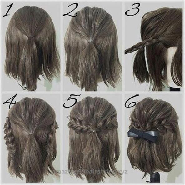 Neat easy prom hairstyle tutorials for girls with short hair The .