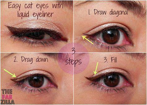 Great Tips For Glowing Skin | Easy cat eye, Liquid eyeliner .