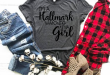I'm a Hallmark watching kinda girl, Hallmark movie shirt, Tis the .