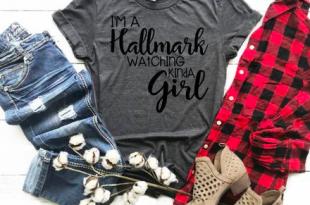 I'm a Hallmark watching kinda girl, Hallmark movie shirt, Tis the .
