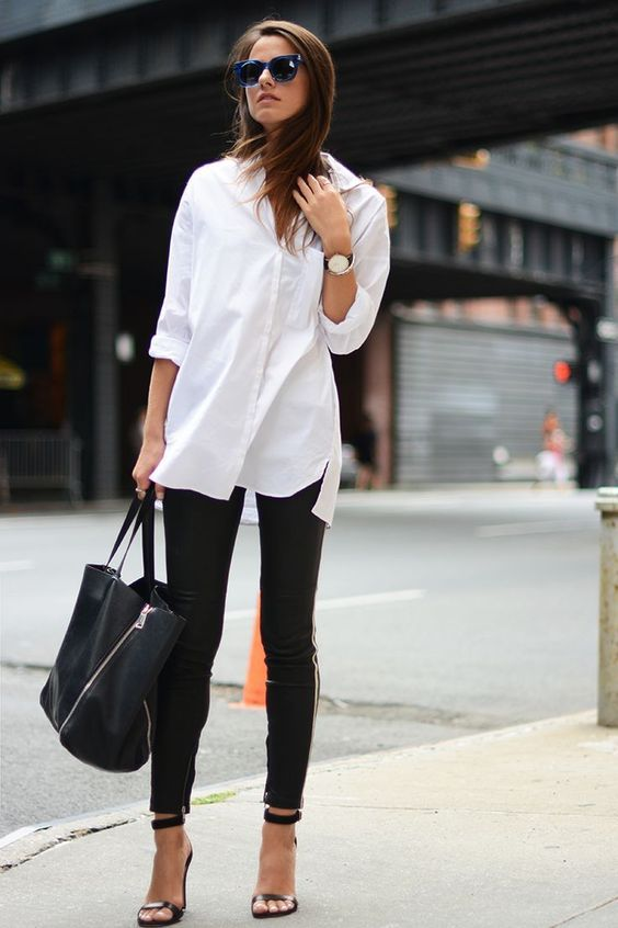 How To Style Black Pants And A White Shirt – Outfit Inspiration in .