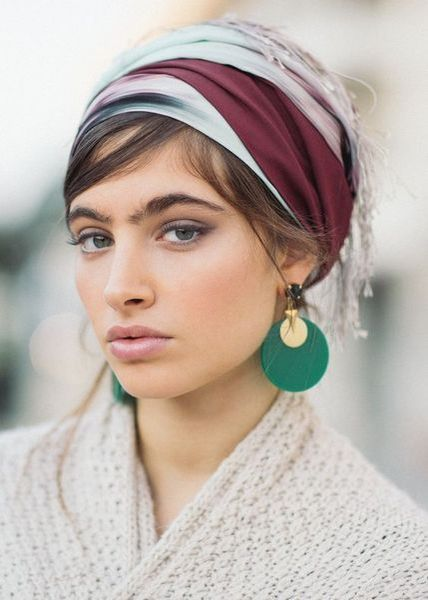 Best February Hair Wrap Inspiration in 2020 | Scarf hairstyles .
