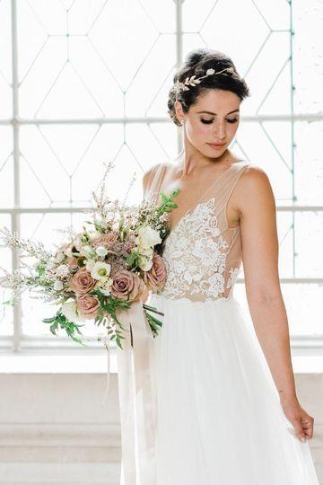 Whimsical wedding dress idea - a-line wedding dress with floral .