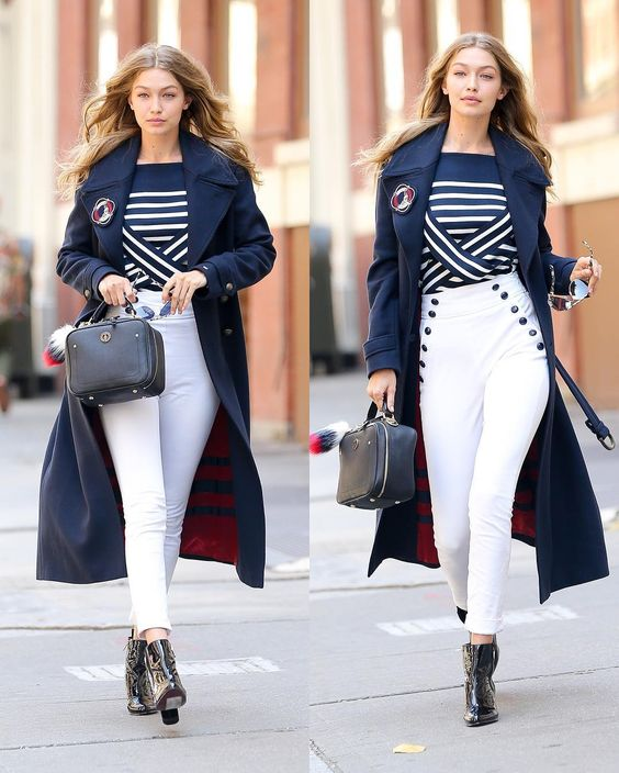 Gigi Hadid-Model Best Street Style Winter Fashion - The Fresco Ne