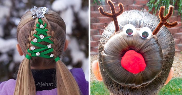 62 Of The Most Creative Christmas Hairstyles Ever | Bored Pan