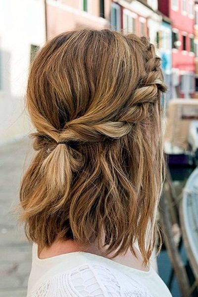 Best Hairstyle for New Year Eve Party | Braids for short hair .
