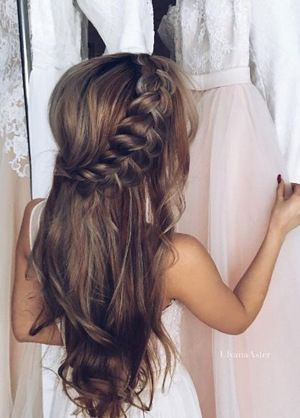 twisted half up half down wedding hairstyles | Wedding hairstyles .