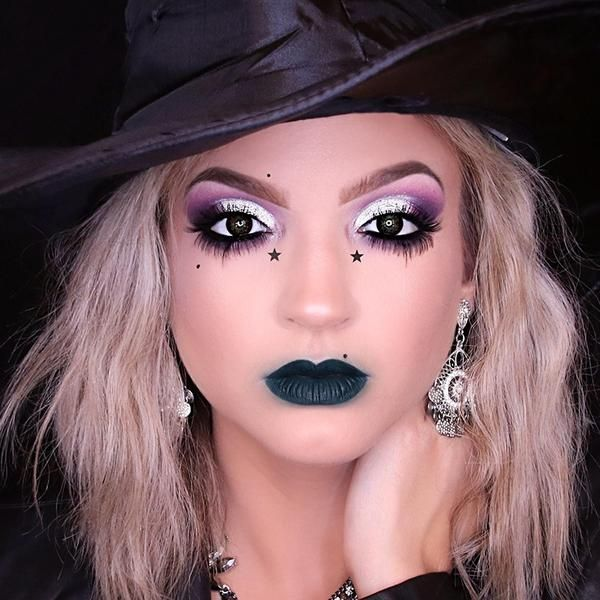 Glam Witch Makeup Tutorial | Cute halloween makeup, Witch makeup .