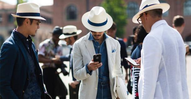 hat, borsalino, brim hat, white, blue, summer, menswear, designer .