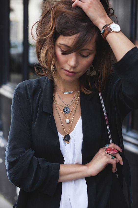 15 ways to wear layered necklace like a p
