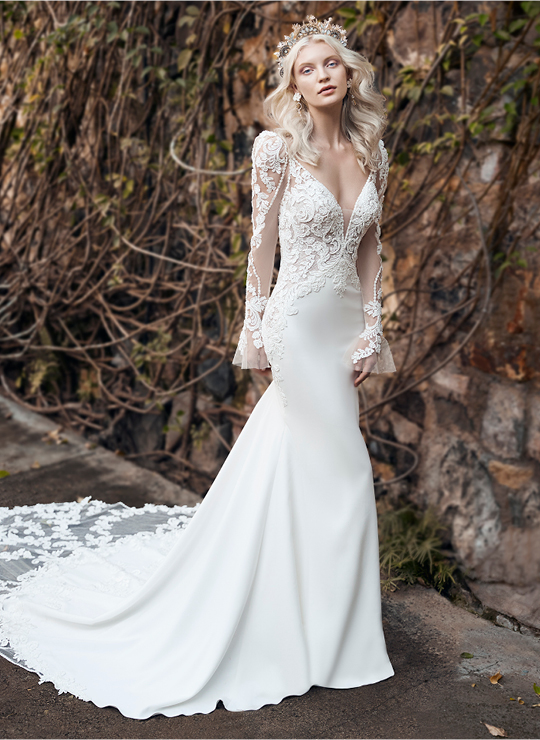 Wedding Dresses and Gowns with Sleeves | Maggie Sotte