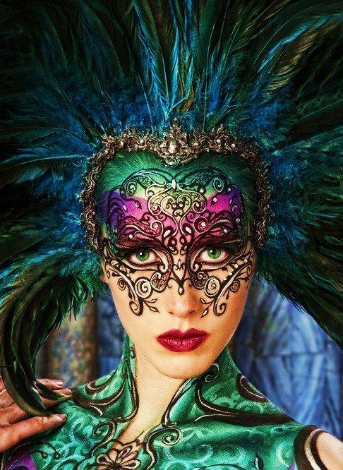15 Best Mardi Gras Make up You Will Amazing | Beautiful mask .