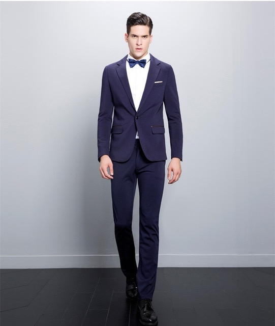 2020 Italian Design Slim Fit Purple Men Suits Handsome Best Man .