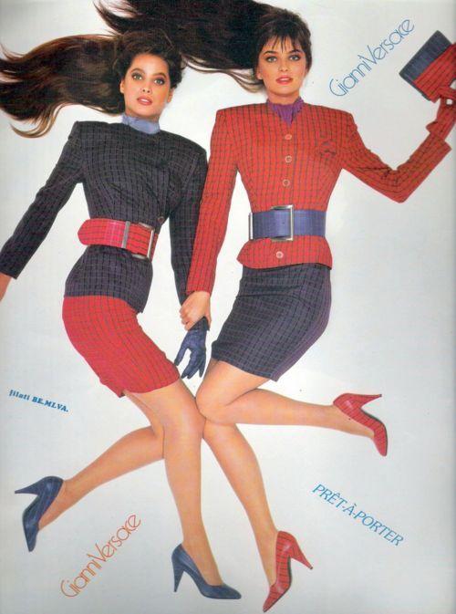Best 80's Fashion Look : Christy Turlington & Paulina Porizkova in .