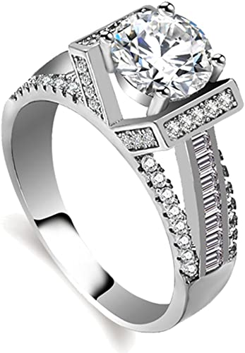 Amazon.com: Similanka Eternal Love Women's 18K White Gold Plated .
