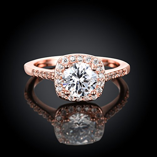 Eternal Love Women's 18K Rose/White Gold Plated CZ Crystal .