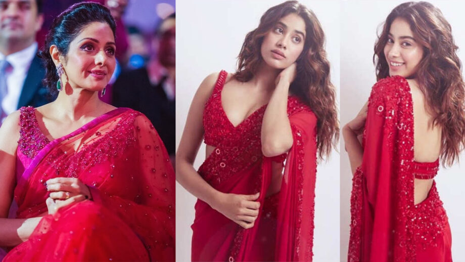 Sridevi Vs Janhvi Kapoor: Who looks good in red saree? | IWMBu