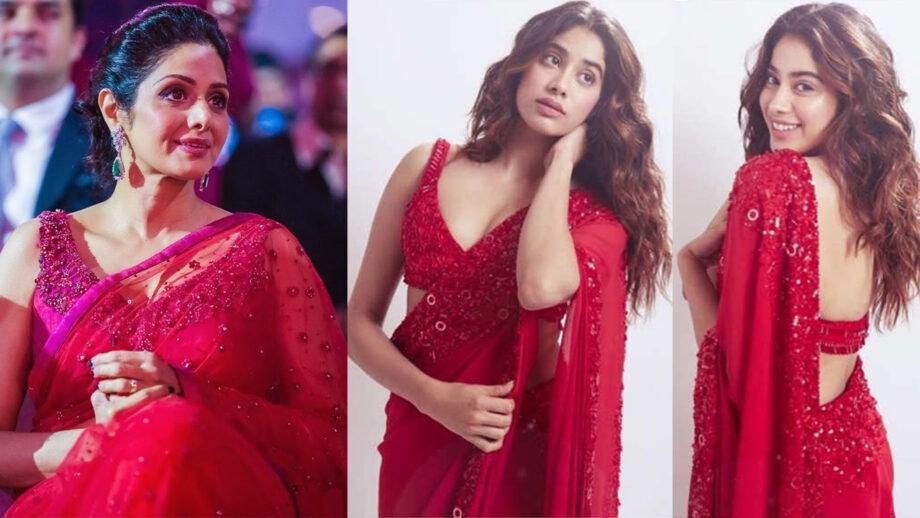 Sridevi Vs Janhvi Kapoor: Who looks good in red saree? | IWMBu