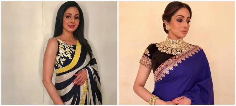 10 Sarees from Sridevi's Closet you can Draw Inspiration From .