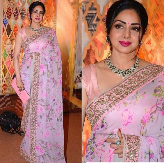 15 The Best Sridevi Saree Inspiration You Will Like | Bollywood .