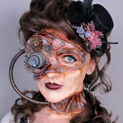 Visit (With images) | Special effects makeup, Steampunk makeup .