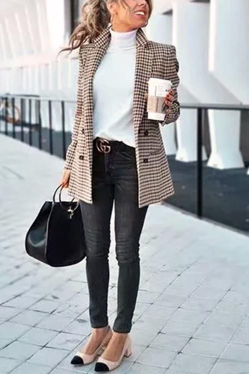 Chic Khaki Suit Coat | Winter business outfits, Best business .