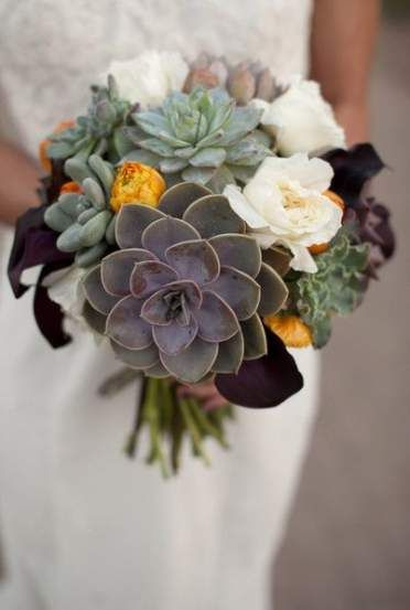 Best wedding bouquets fall succulents Ideas | Fall wedding .
