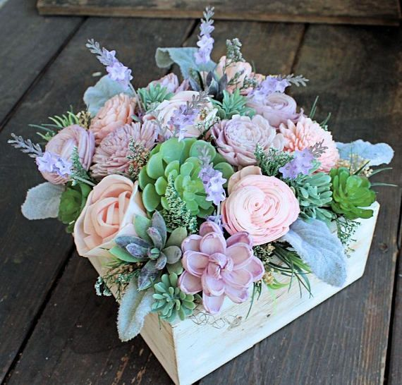 Floral Arrangement, Wedding Reception Centerpiece, Sola Flowers .
