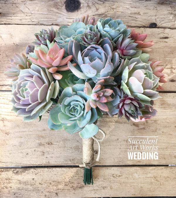 Beautiful Succulent Wedding Bouquets | Mid-South Bri