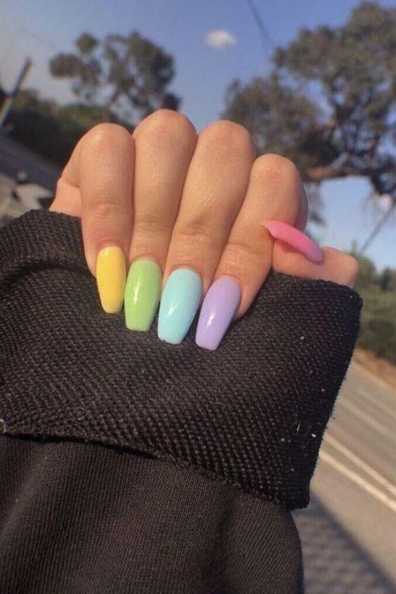 summer nails ideas | Summer acrylic nails, Nails, Trendy nai