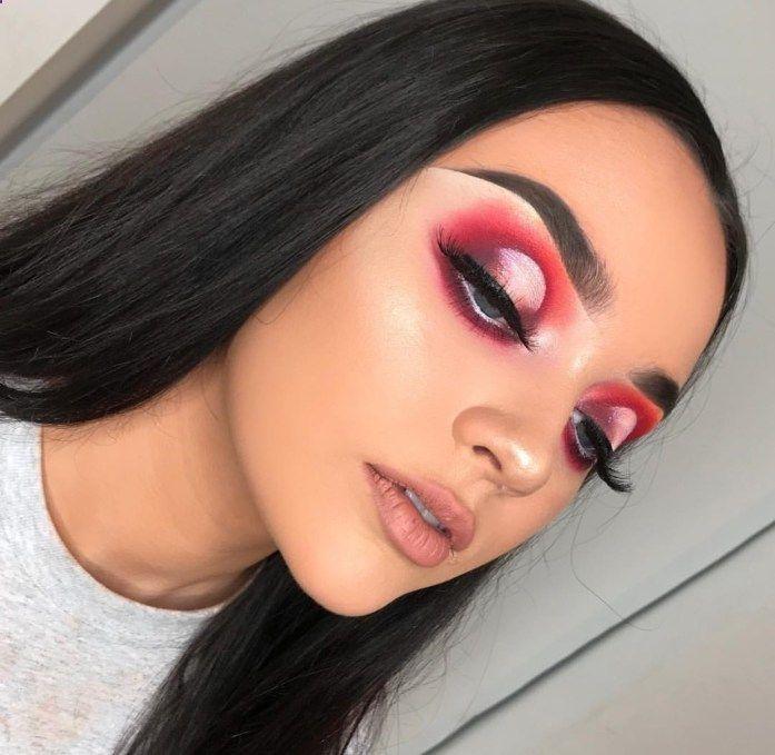 Valentines Day Makeup Look Ideas | Eye Makeup | Pink Eyeshadow .