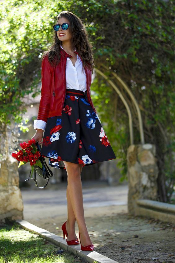 15 The Best Voguish Business Casual for Woman | Floral skirt .