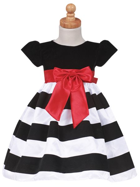 Black and White Striped Girls Formal Holiday Dresses http://www .
