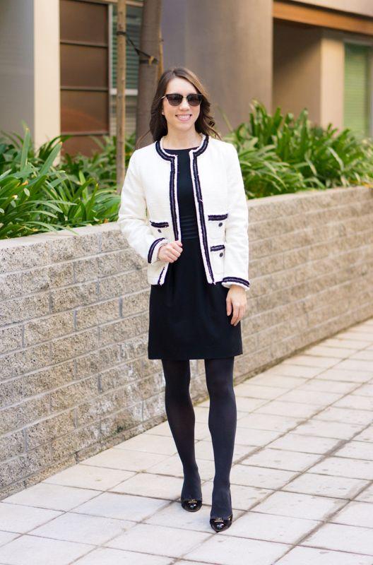 Chanel-inspired blazer | Talbots Provence Tweed Jacket |Chanel .