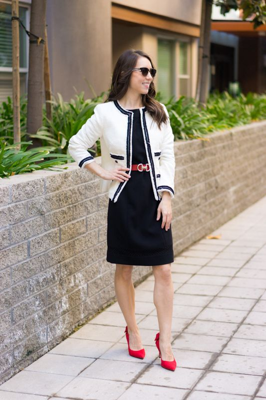 5 Outfit Ideas with Chanel-Inspired Blazer | High fashion street .