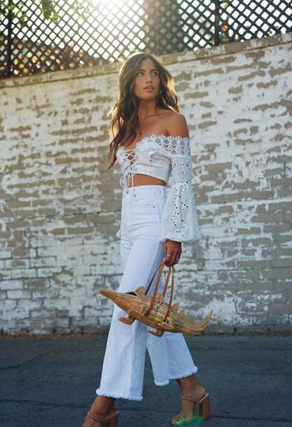 The Jodi Crop in White Cropped Jeans | AG Jeans Official Store .