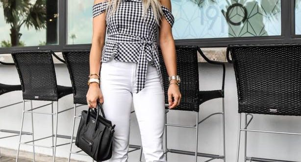 Black & White Gingham: Perfect Spring Brunch Outfit | Brunch .