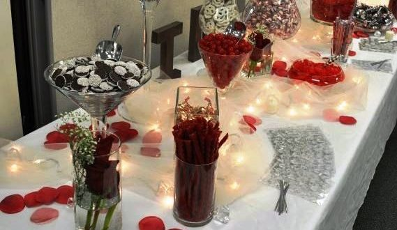 50+ Burgundy Quinceanera Themes | Wedding candy table, Candy bar .