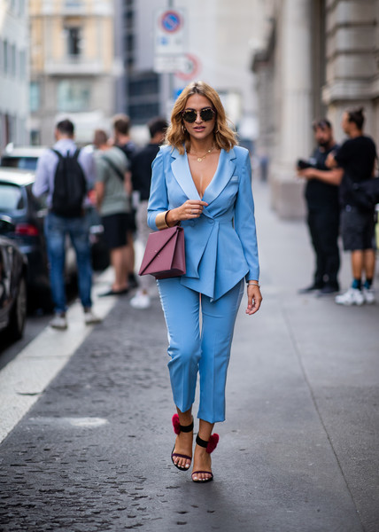 Charming Blues - How Your Favorite Street Style Stars Wear .